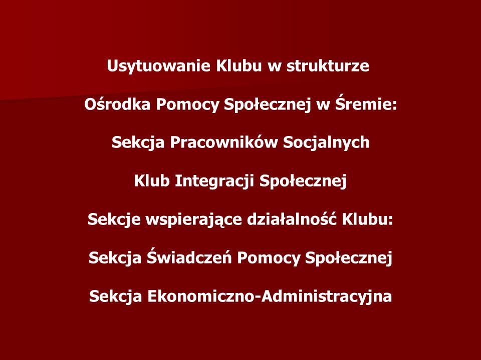 Usytuowanie Klubu w strukturze Ośrodka Pomocy Społecznej w Śremie: