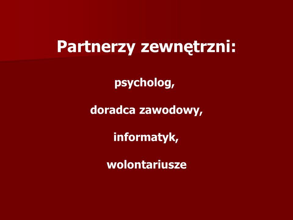 Partnerzy zewnętrzni: