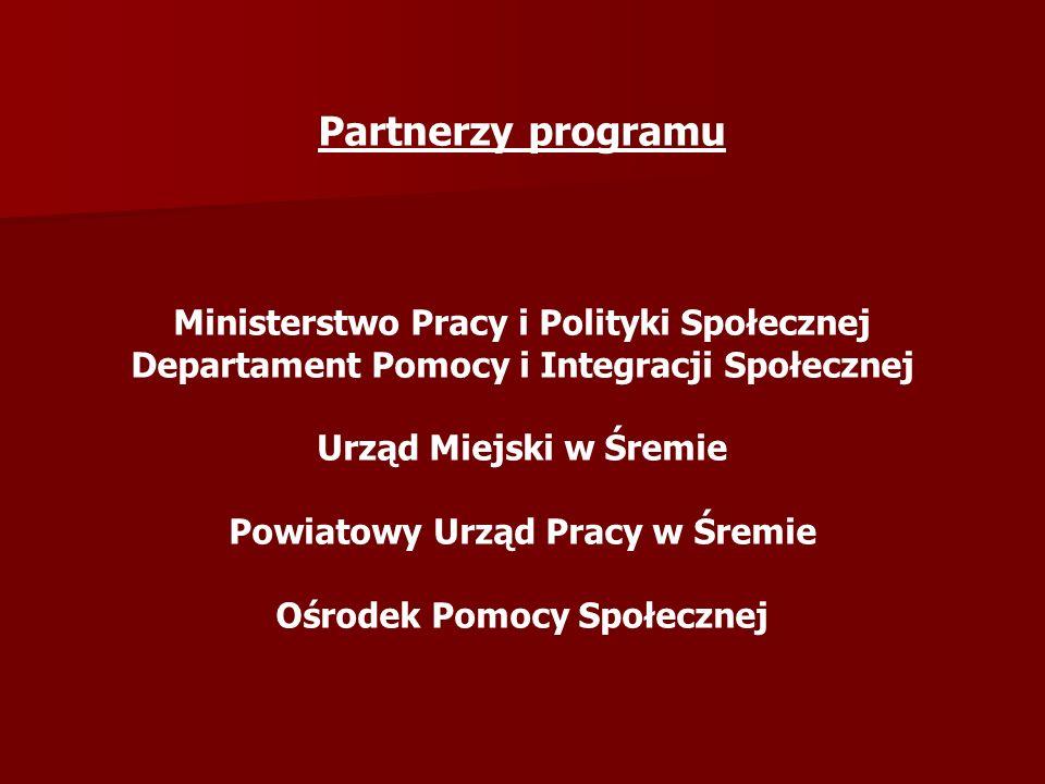 Partnerzy programu Ministerstwo Pracy i Polityki Społecznej
