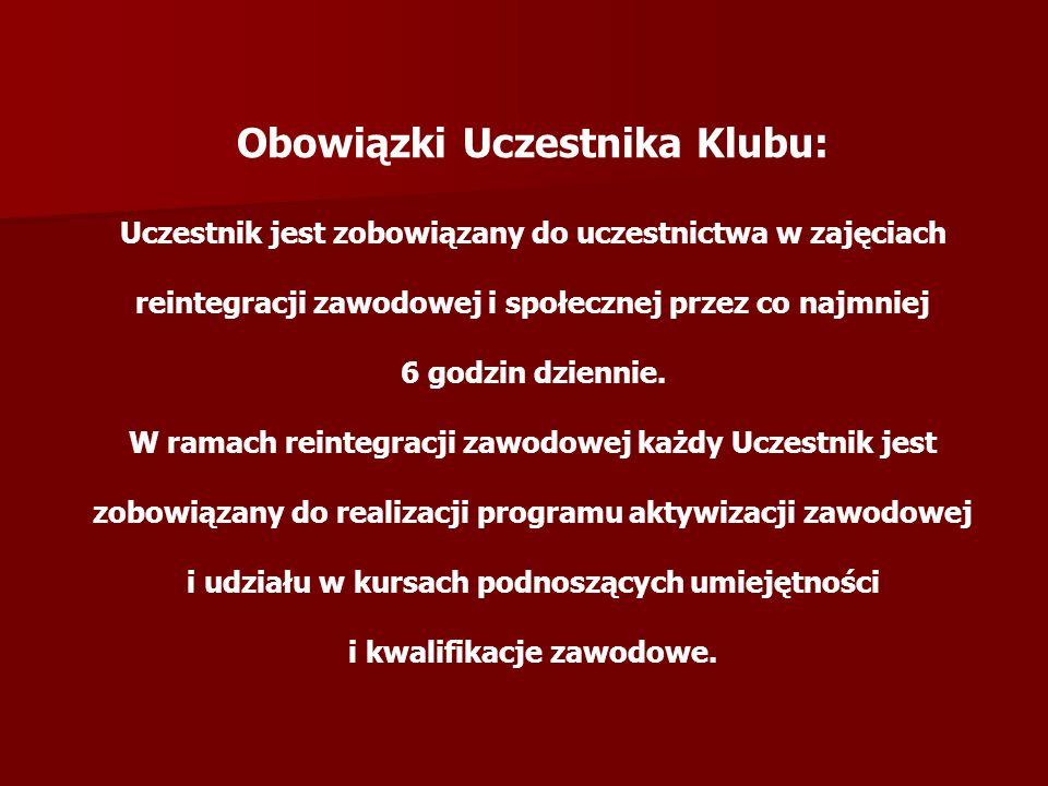 Obowiązki Uczestnika Klubu: