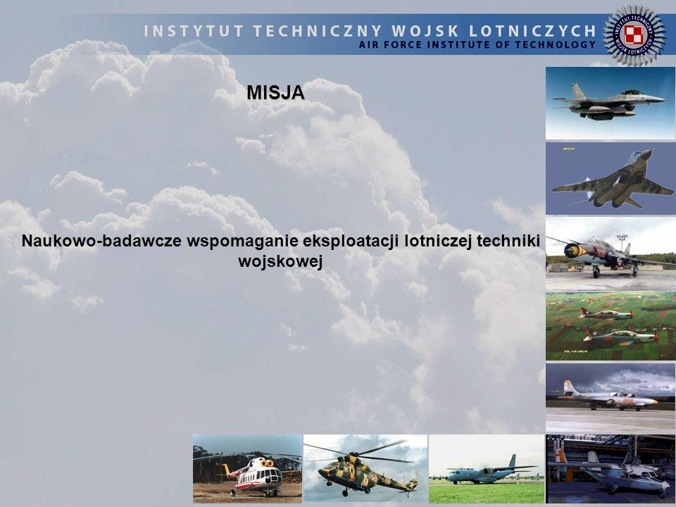 Naukowo-badawcze wspomaganie eksploatacji lotniczej techniki wojskowej
