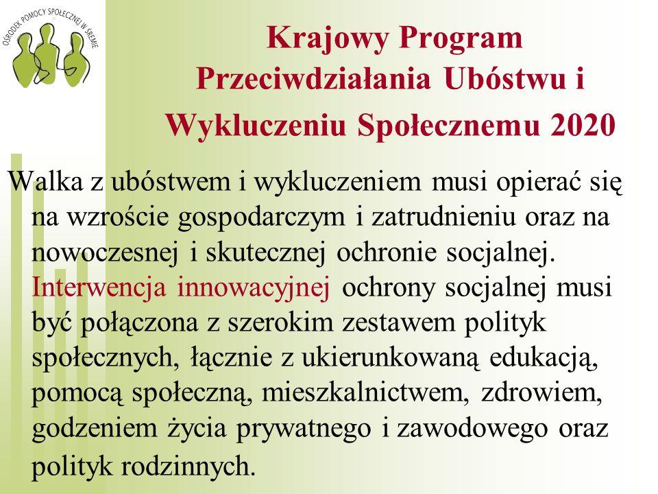 Krajowy Program Przeciwdziałania Ubóstwu i Wykluczeniu Społecznemu 2020
