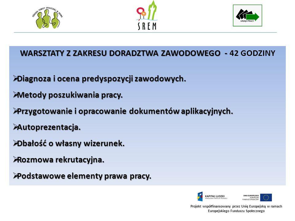 WARSZTATY Z ZAKRESU DORADZTWA ZAWODOWEGO - 42 GODZINY
