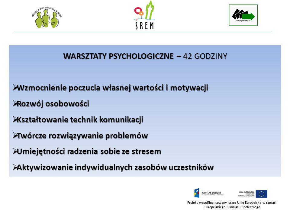 WARSZTATY PSYCHOLOGICZNE – 42 GODZINY