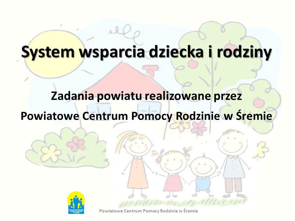 System wsparcia dziecka i rodziny Zadania powiatu realizowane przez