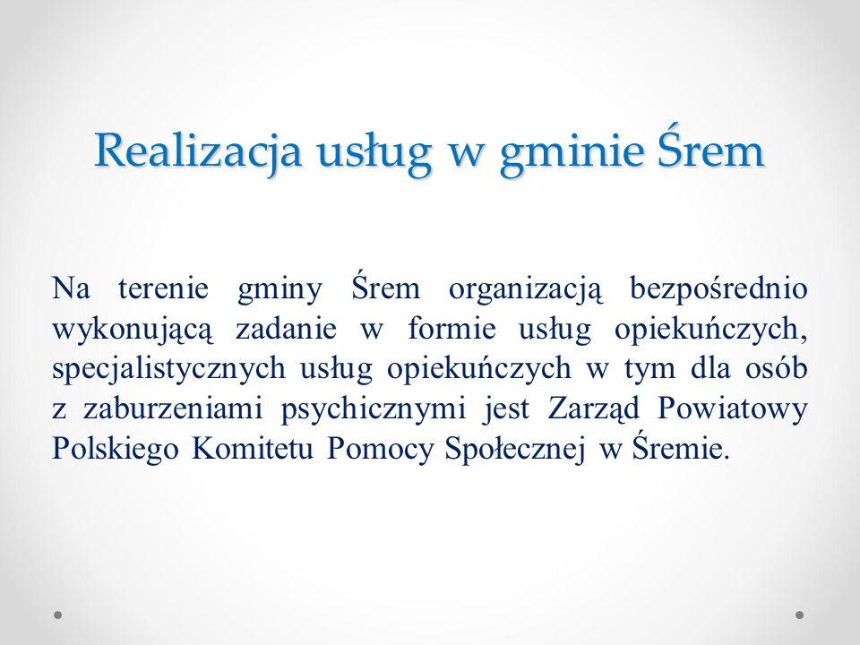 Realizacja usług w gminie Śrem