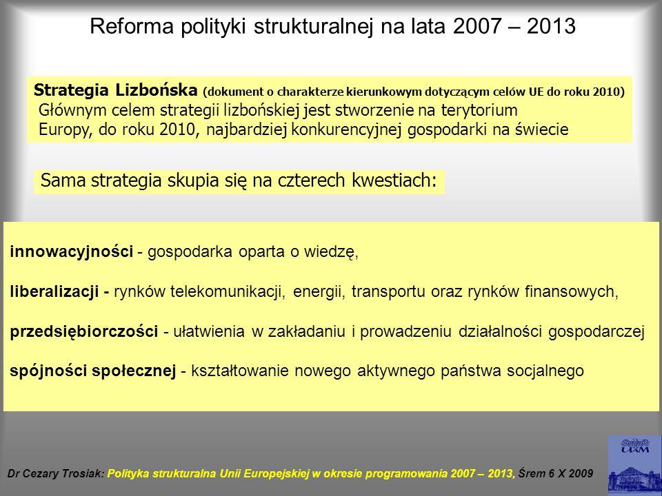 Reforma polityki strukturalnej na lata 2007 – 2013