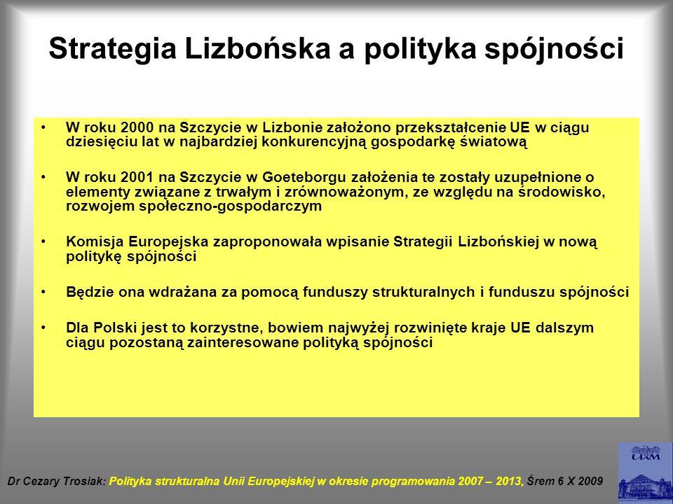 Strategia Lizbońska a polityka spójności