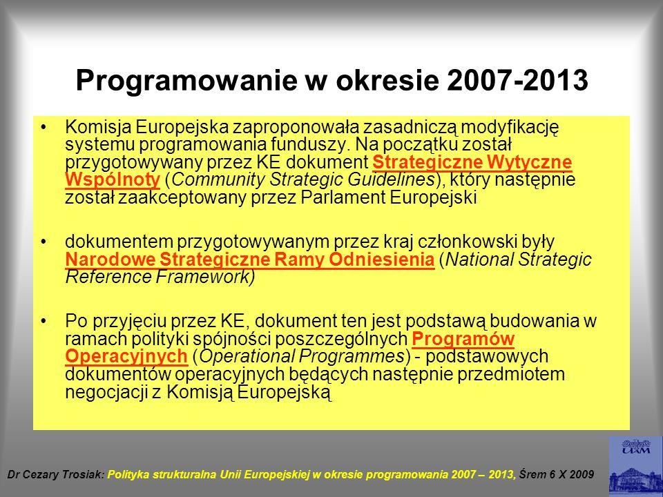 Programowanie w okresie 2007-2013