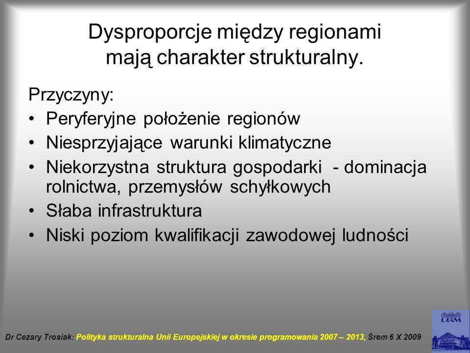 Dysproporcje między regionami mają charakter strukturalny.
