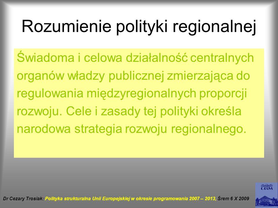 Rozumienie polityki regionalnej