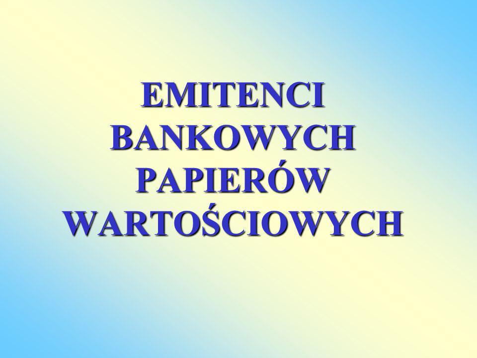 EMITENCI BANKOWYCH PAPIERÓW WARTOŚCIOWYCH