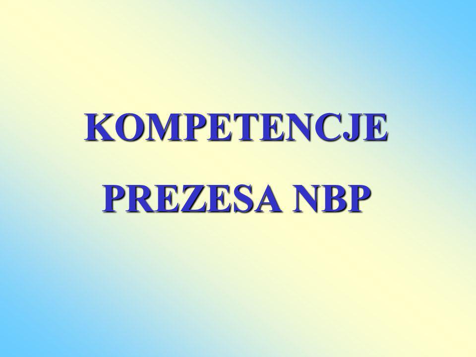 KOMPETENCJE PREZESA NBP