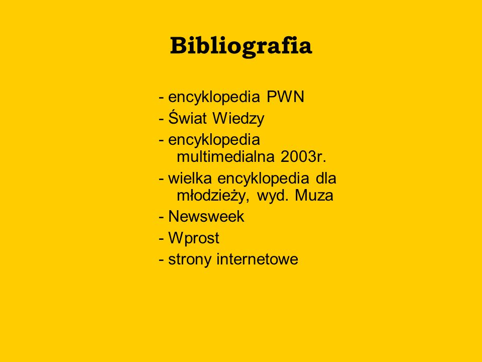 Bibliografia - encyklopedia PWN - Świat Wiedzy