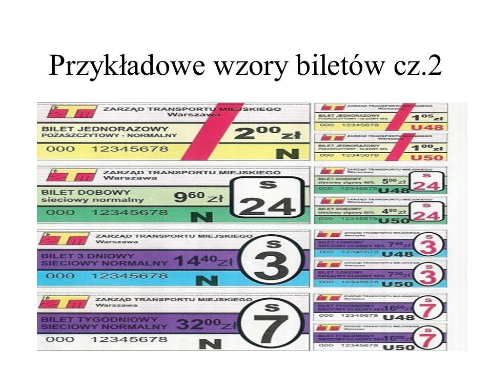 Przykładowe wzory biletów cz.2