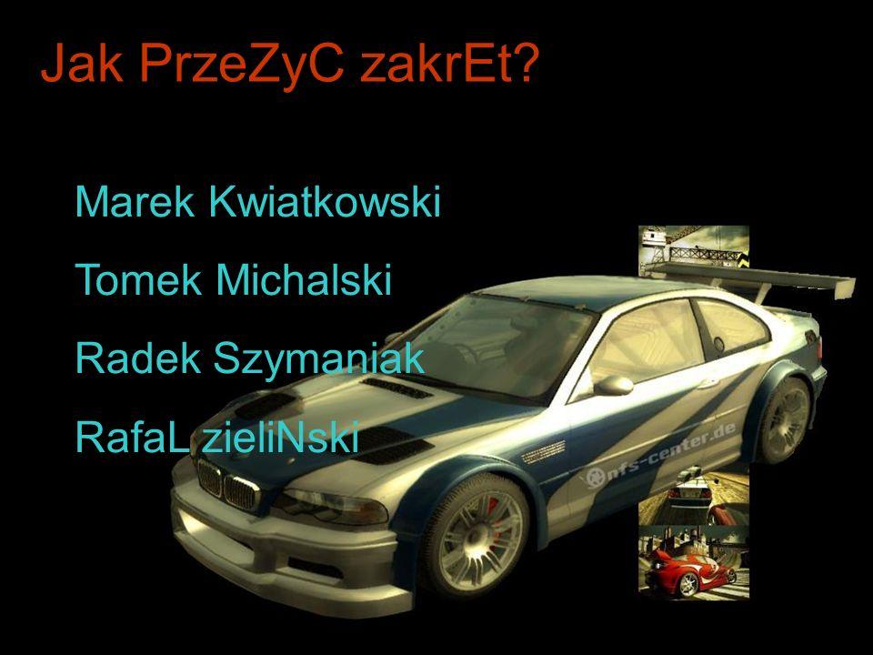 Jak PrzeZyC zakrEt Marek Kwiatkowski Tomek Michalski Radek Szymaniak