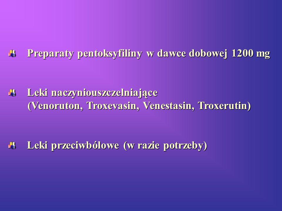 Preparaty pentoksyfiliny w dawce dobowej 1200 mg