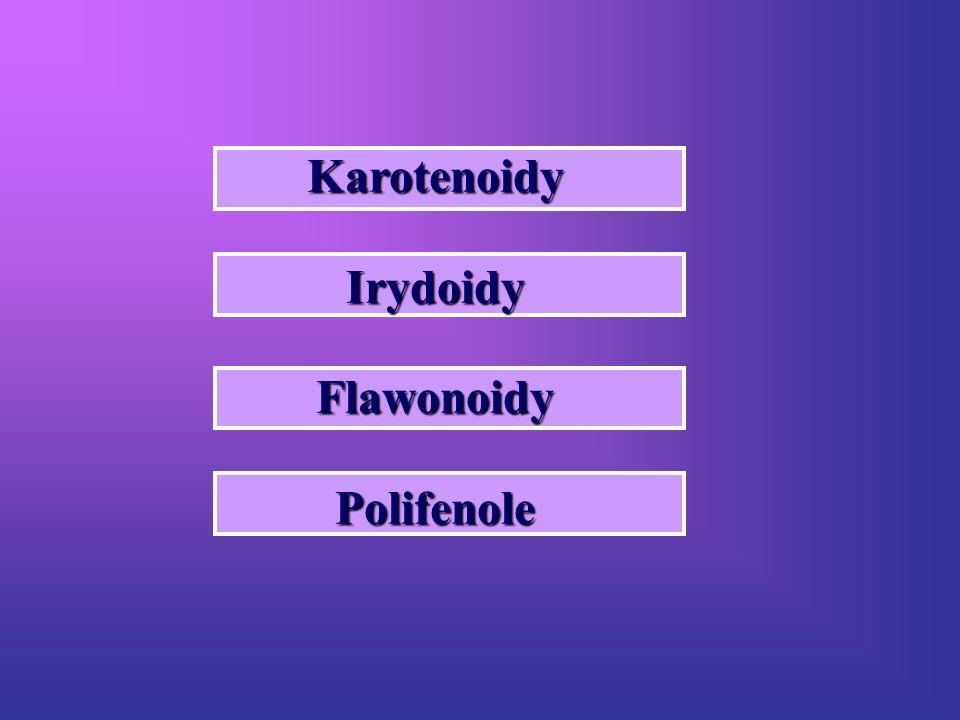 Karotenoidy Irydoidy Flawonoidy Polifenole