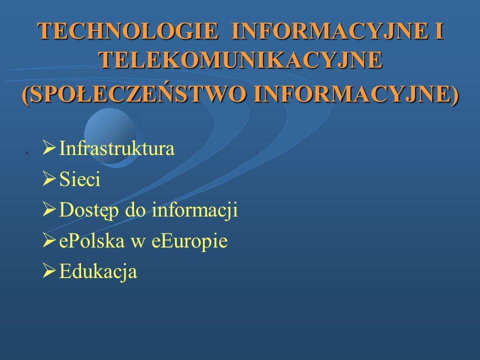 TECHNOLOGIE INFORMACYJNE I TELEKOMUNIKACYJNE (SPOŁECZEŃSTWO INFORMACYJNE)