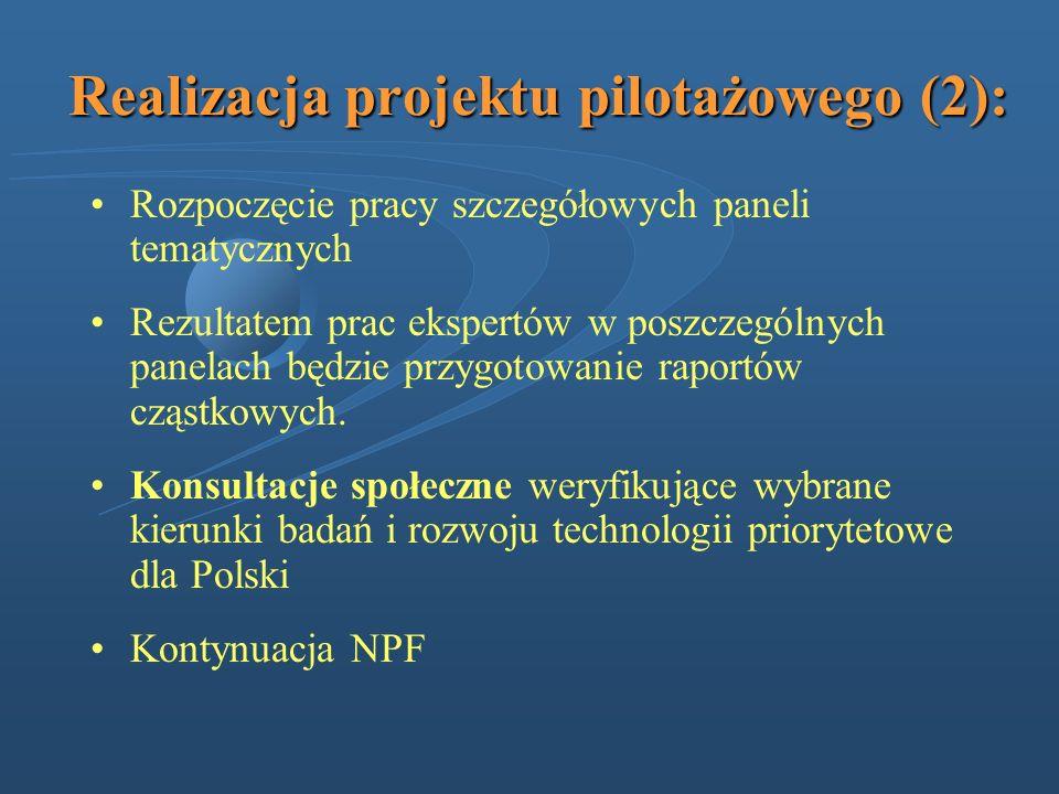 Realizacja projektu pilotażowego (2):