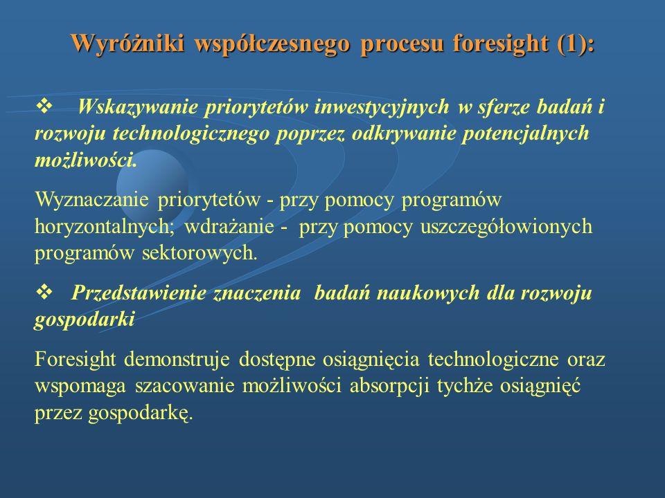 Wyróżniki współczesnego procesu foresight (1):