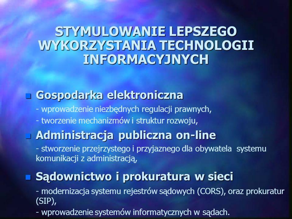STYMULOWANIE LEPSZEGO WYKORZYSTANIA TECHNOLOGII INFORMACYJNYCH