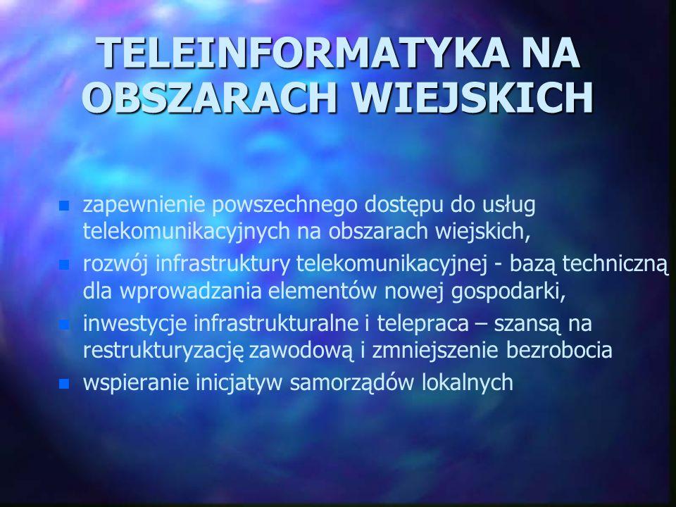 TELEINFORMATYKA NA OBSZARACH WIEJSKICH