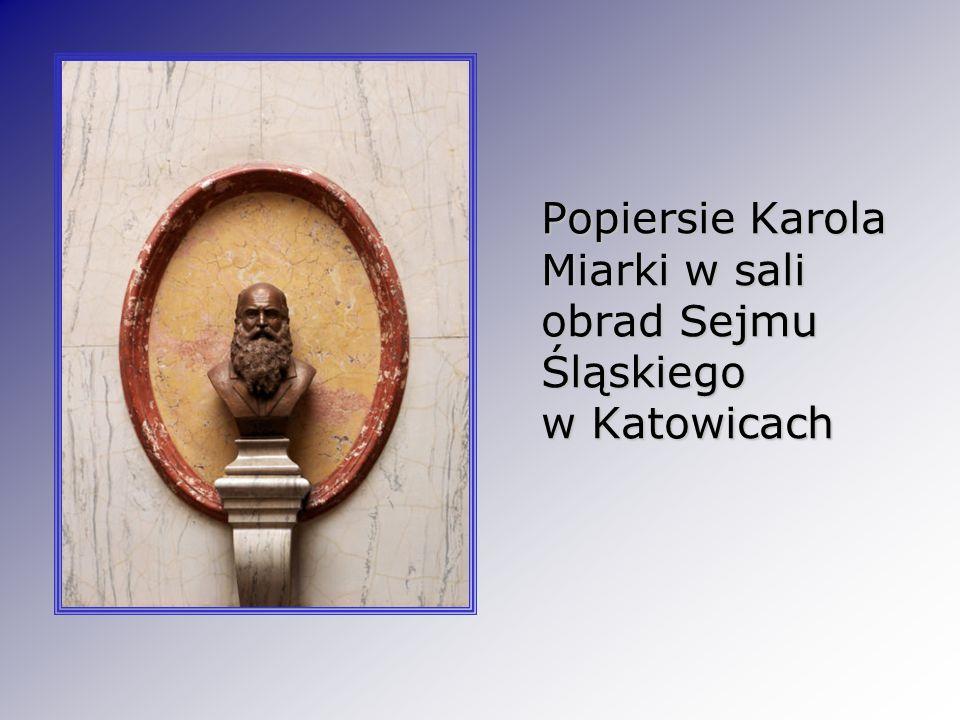 Popiersie Karola Miarki w sali obrad Sejmu Śląskiego w Katowicach