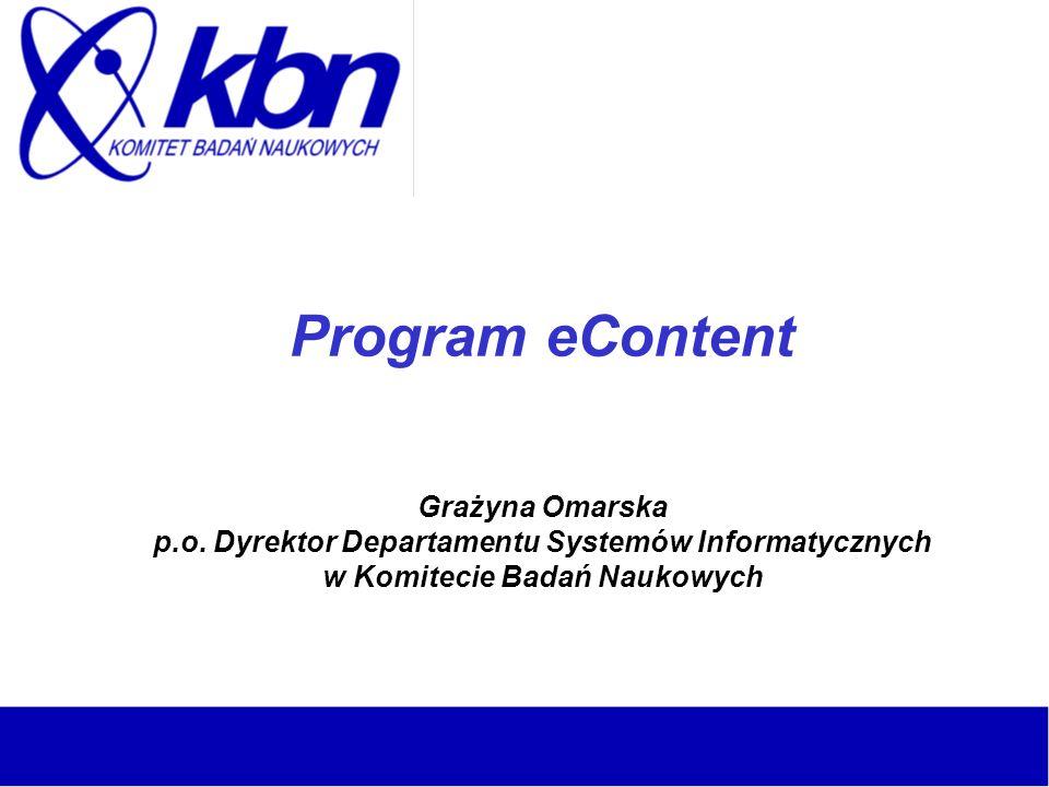 Program eContent Grażyna Omarska p. o