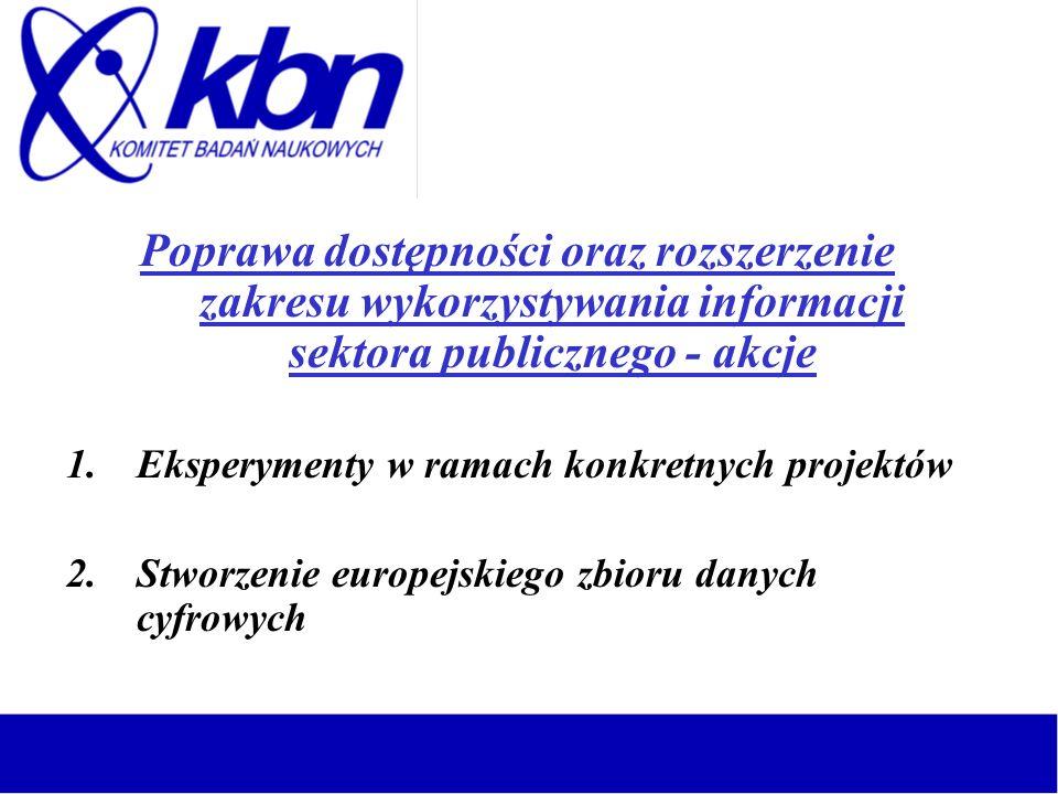 Poprawa dostępności oraz rozszerzenie zakresu wykorzystywania informacji sektora publicznego - akcje