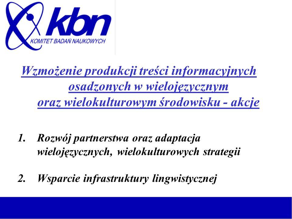 Wzmożenie produkcji treści informacyjnych osadzonych w wielojęzycznym oraz wielokulturowym środowisku - akcje