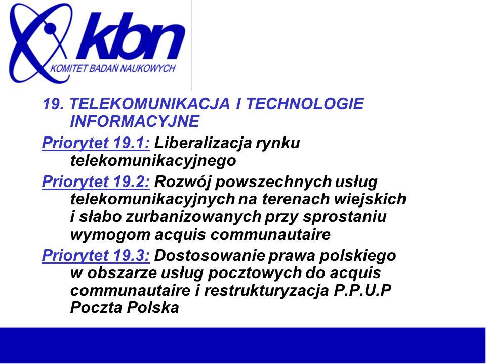 19. TELEKOMUNIKACJA I TECHNOLOGIE INFORMACYJNE