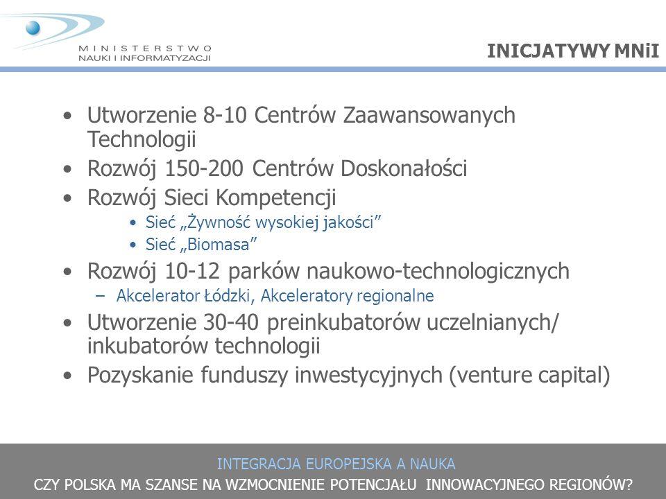 Utworzenie 8-10 Centrów Zaawansowanych Technologii