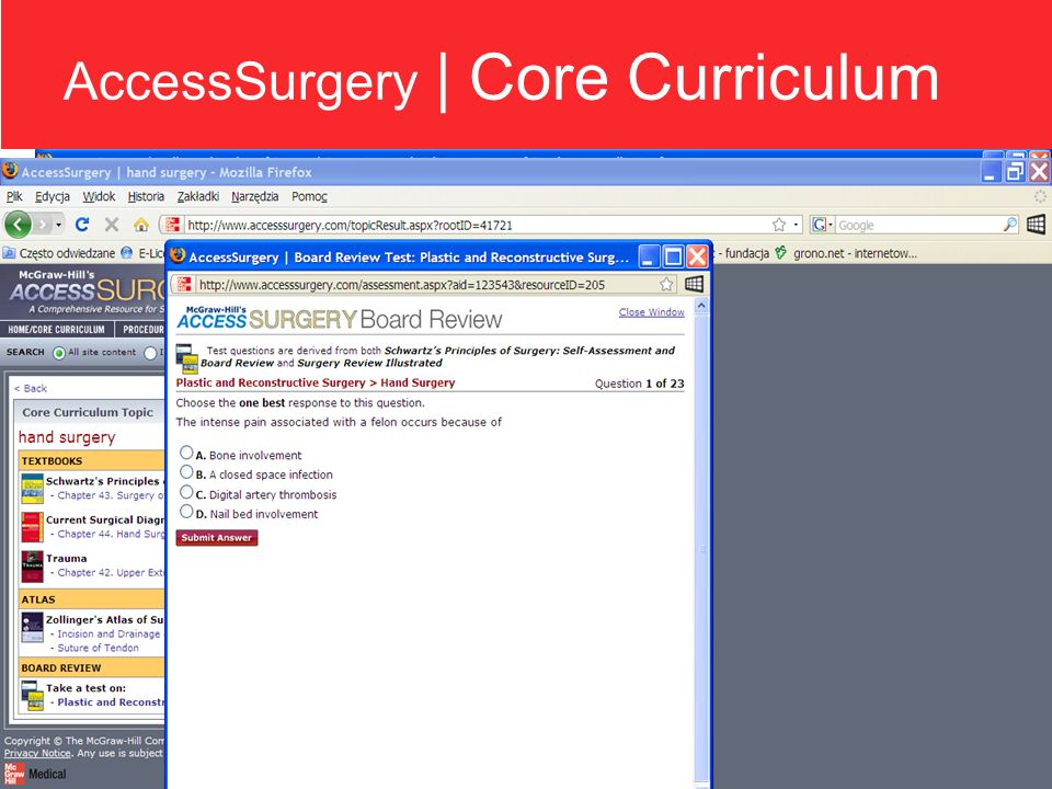 AccessSurgery | Core Curriculum
