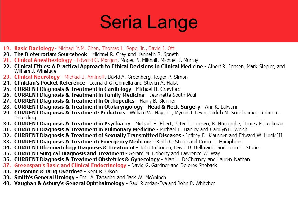 Seria Lange Basic Radiology - Michael Y.M. Chen, Thomas L. Pope, Jr., David J. Ott.