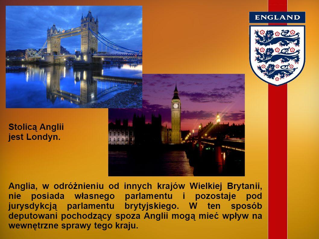 Stolicą Angliijest Londyn.