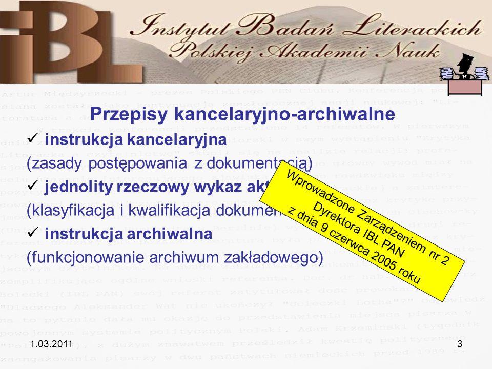 Przepisy kancelaryjno-archiwalne