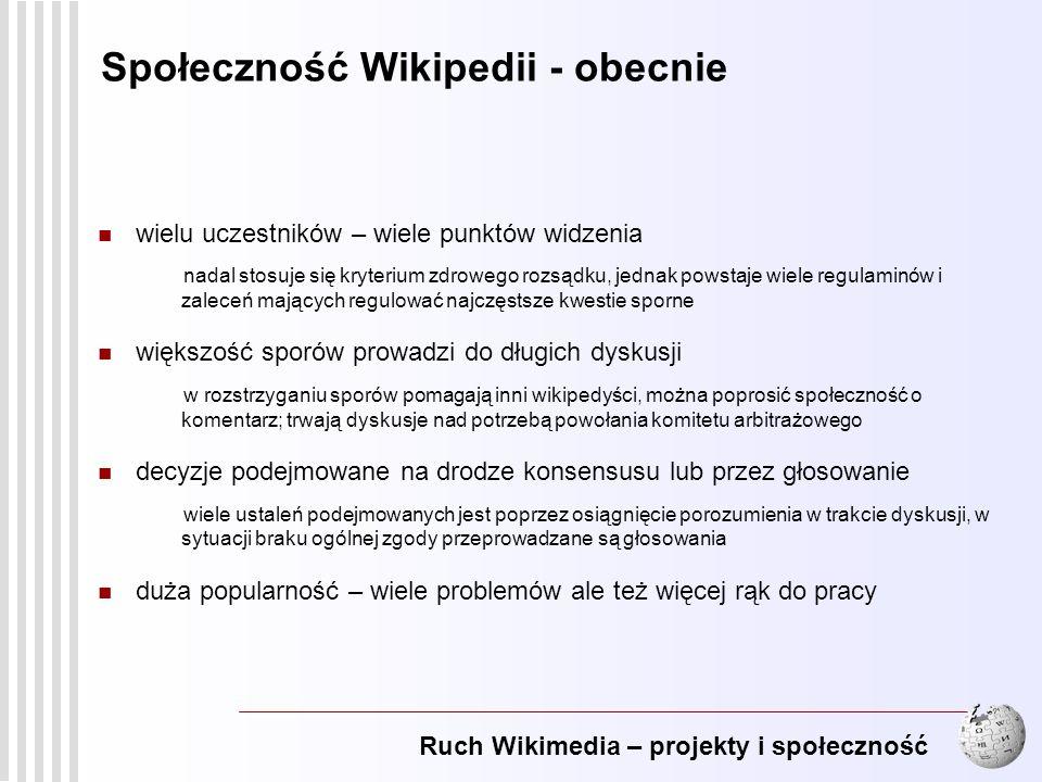 Społeczność Wikipedii - obecnie