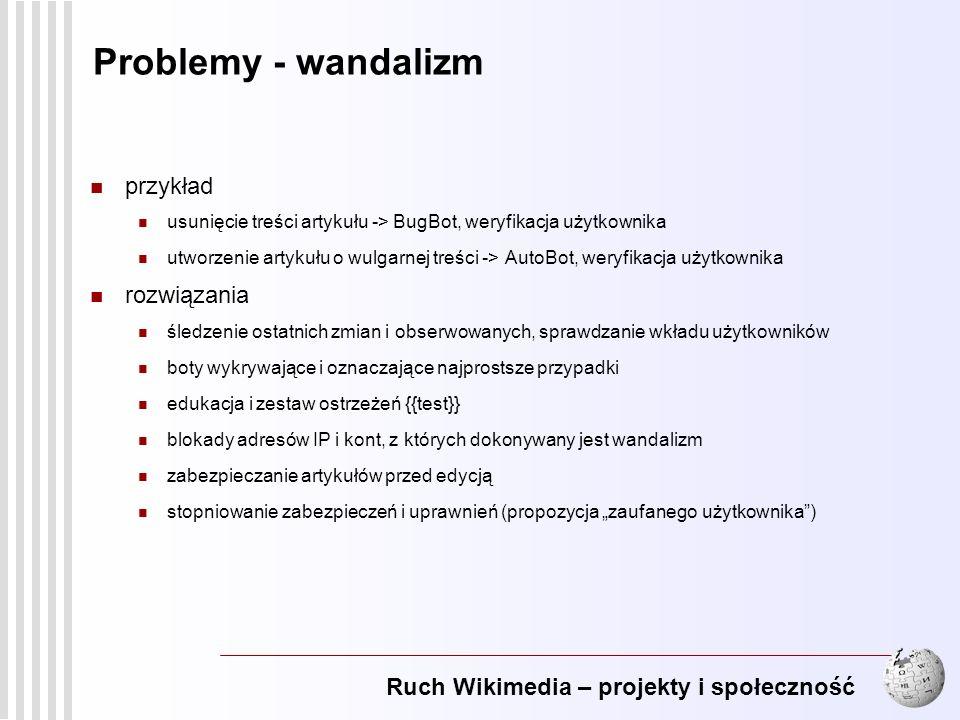 Problemy - wandalizm przykład rozwiązania