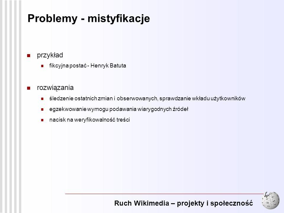 Problemy - mistyfikacje
