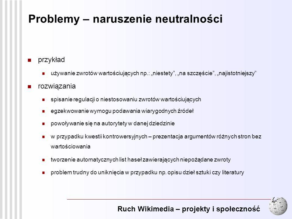 Problemy – naruszenie neutralności