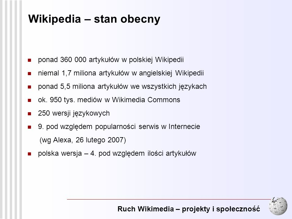 Wikipedia – stan obecny