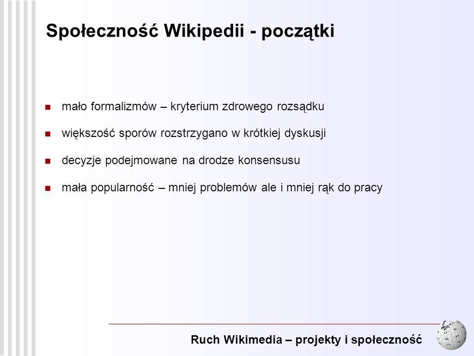 Społeczność Wikipedii - początki