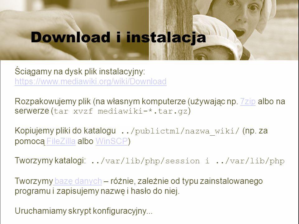 Download i instalacja Ściągamy na dysk plik instalacyjny: