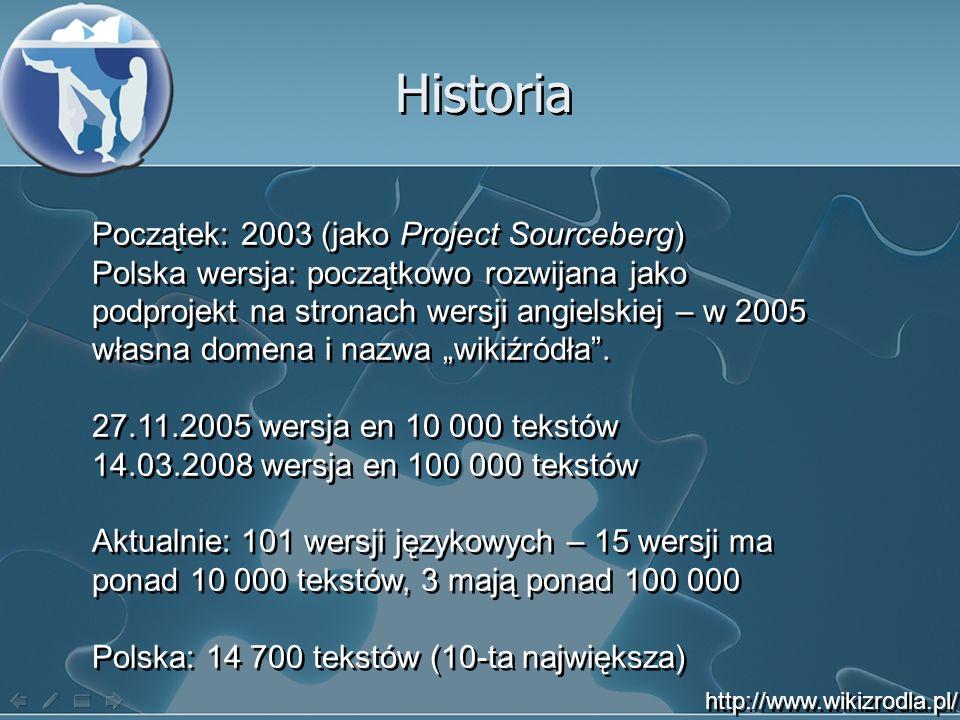 Historia Początek: 2003 (jako Project Sourceberg)
