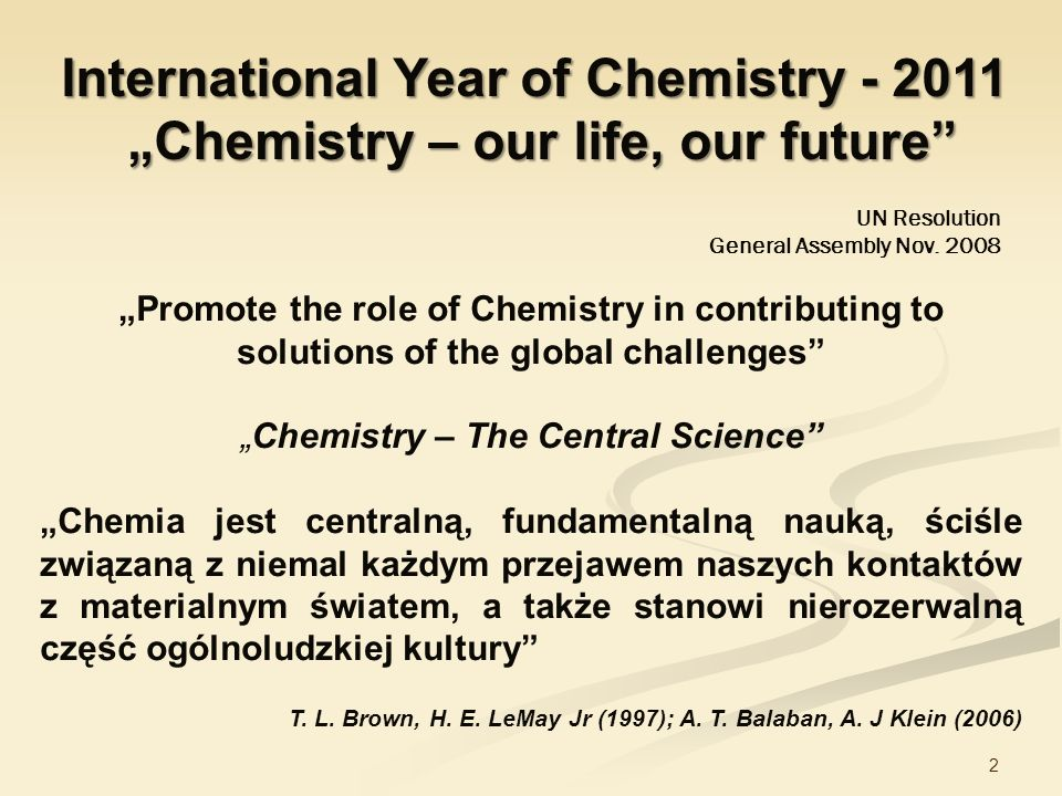 International Year of Chemistry - 2011