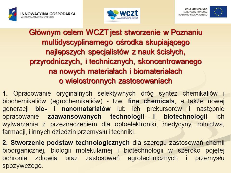 Głównym celem WCZT jest stworzenie w Poznaniu multidyscyplinarnego ośrodka skupiającego najlepszych specjalistów z nauk ścisłych, przyrodniczych, i technicznych, skoncentrowanego na nowych materiałach i biomateriałach o wielostronnych zastosowaniach