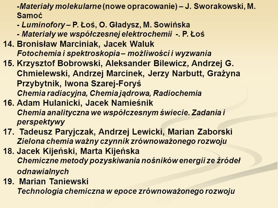 Marian Taniewski Technologia chemiczna w epoce zrównoważonego rozwoju