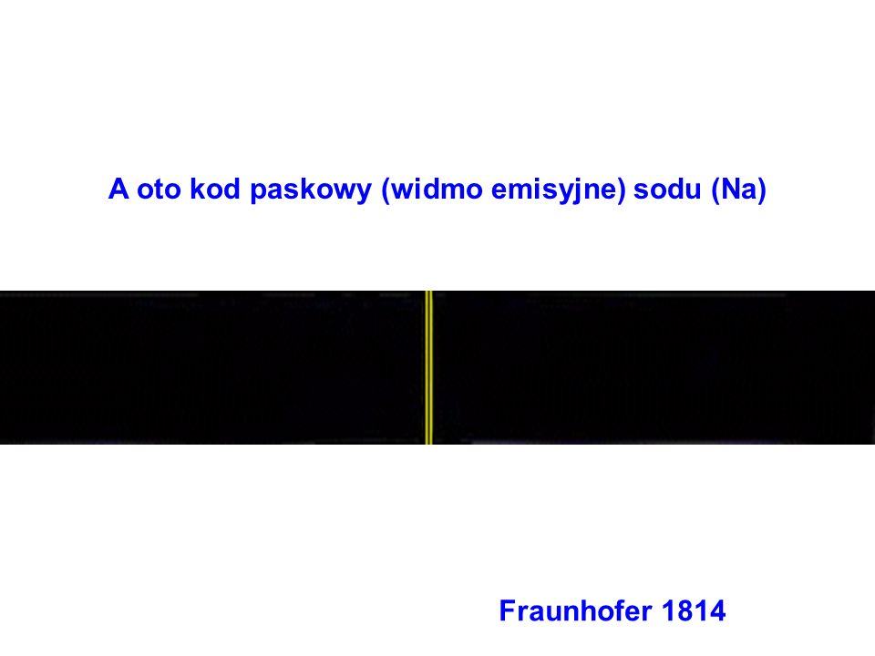 A oto kod paskowy (widmo emisyjne) sodu (Na)
