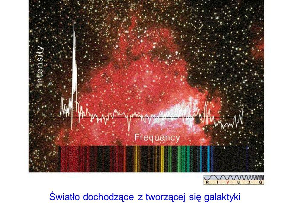 Światło dochodzące z tworzącej się galaktyki